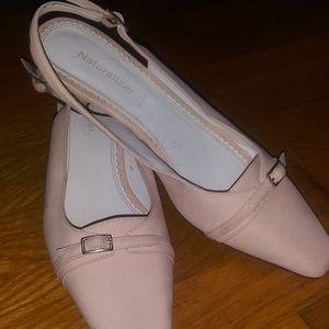 Ballet pink Naturalizer heels sz7